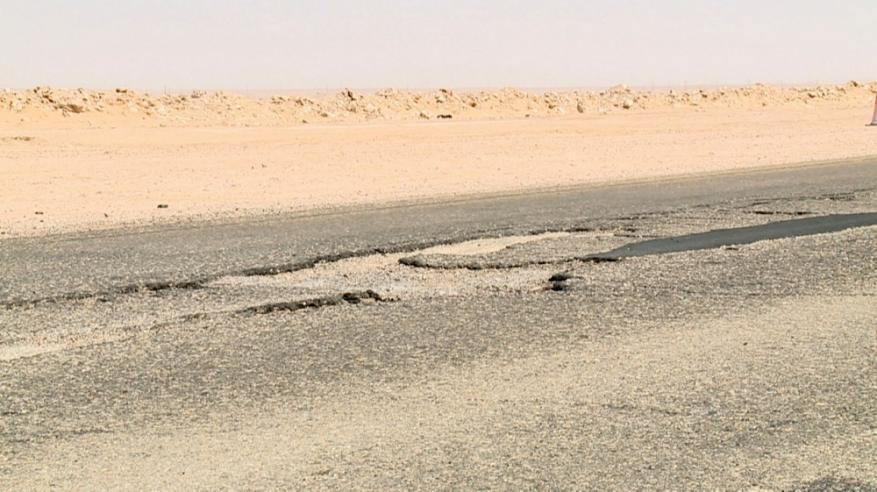 صورة للحفريات بشارع هيماء الدقم