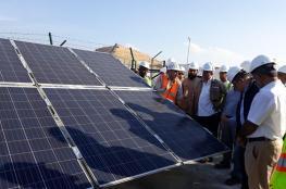 """""""حيا للمياه"""" تبدأ التشغيل الفعلي لتغذية محطة قريات للصرف الصحي بالطاقة الشمسية"""