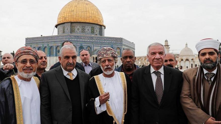 رسالة من يوسف بن علوي إلى زعماء العرب لمساندة الفلسطينيين