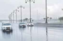هطول أمطار متفاوتة الغزارة على بعض المناطق