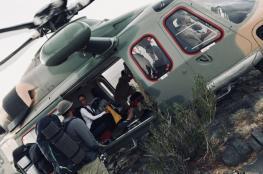 طيران الشرطة ينقذ مجموعة من السياح بجبل شمس