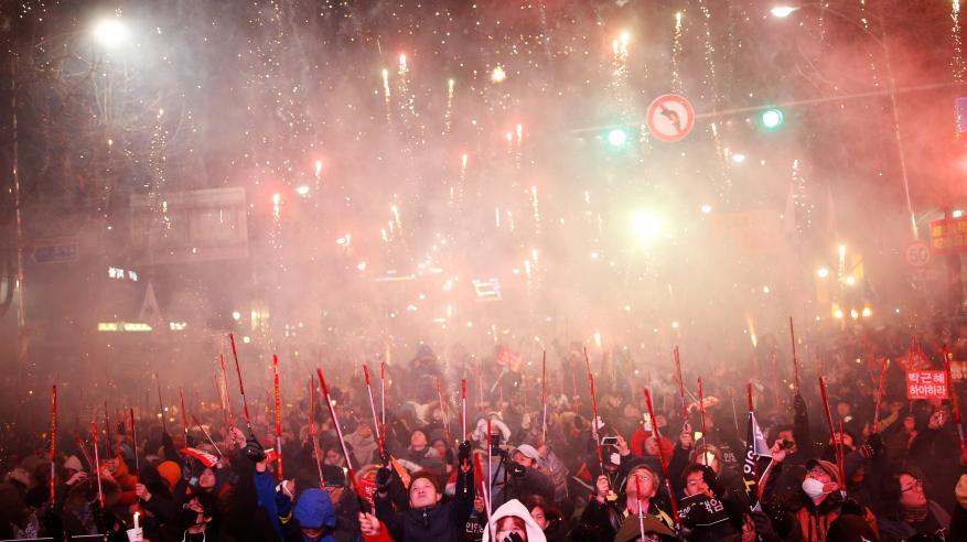 استئناف الاحتجاجات ضد رئيسة كوريا الجنوبية