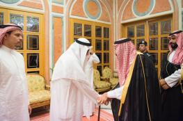 بالصور.. الملك سلمان وولي العهد يستقبلان عائلة خاشقجي