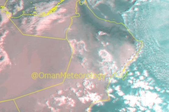 استمرار فرص هطول الأمطار المتفرقةعلى شمال السلطنة