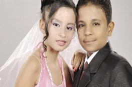 بالصور.. زواج أصغر عروسين في مصر
