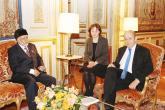 بن علوي يبحث تعزيز العلاقات مع وزير الخارجية الفرنسي