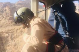طيران الشرطة ينفذ عملية إنقاذ في المنطقة الجبلية بالعوابي