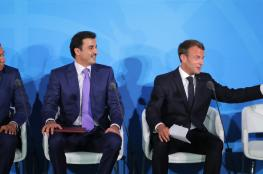 بالفيديو .. جدل بسبب مصافحة بين ماكرون وأمير قطر