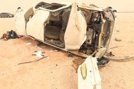 وفاة شخص وإصابة 3 أخرين في تدهور مركبة بهيما