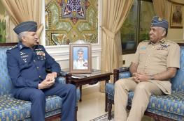العبيداني يستقبل رئيس أركان القوات الجوية الباكستانية