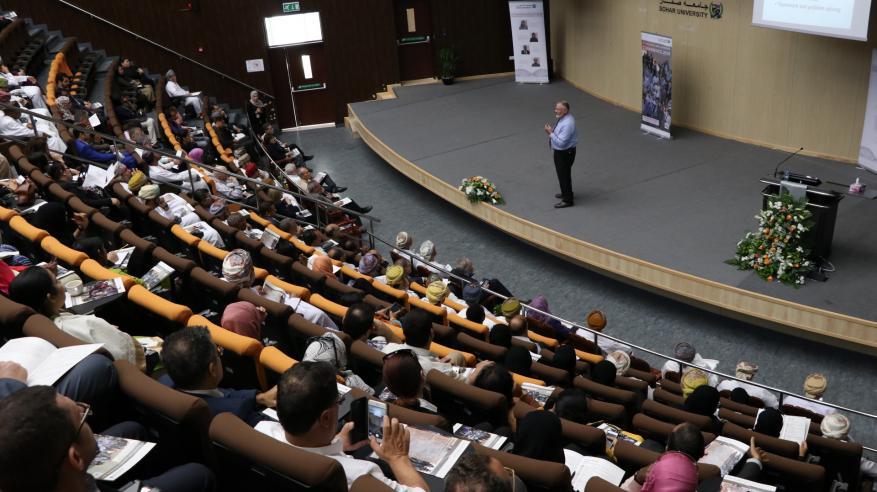 40 عرضا وورشة عمل في مؤتمر التعليم والتعلم الرابع بجامعة صحار