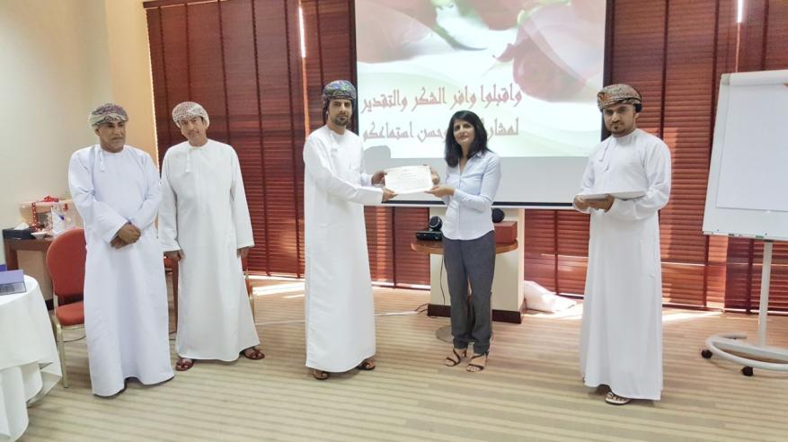 تدريب موظفي بلدية صحار على إدارة المكاتب والسكرتارية