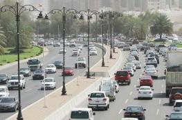 تصادم بين 8 مركبات بشارع السلطان قابوس