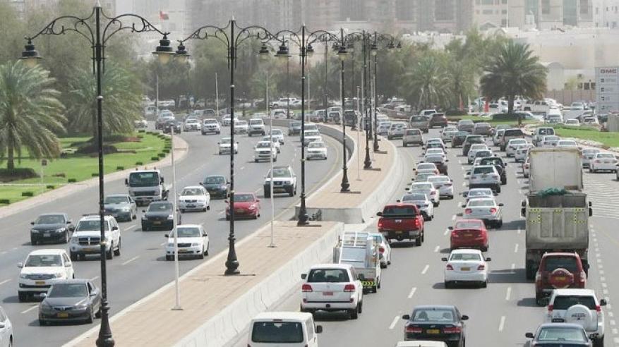 أماكن توقف الحركة المرورية في مسقط
