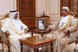 وزير المكتب السلطاني يودع سفير دولة قطر