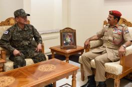 النبهاني يستقبل رئيس مكتب الدعم العسكري بجمهورية كوريا الجنوبية