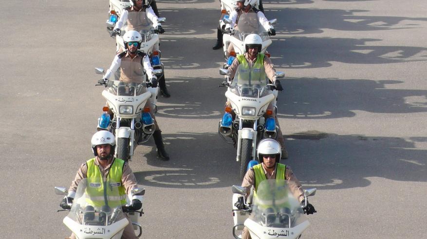 التدريب على قيادة الدراجات النارية بمعهد السلامة المرورية