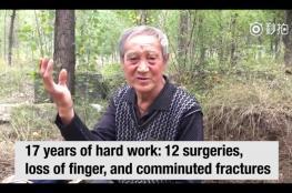 بالفيديو.. سبعيني مبتور الساقين يزرع 17 ألف شجرة بمفرده