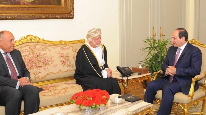 الرئيس المصري يستقبل يوسف بن علوي