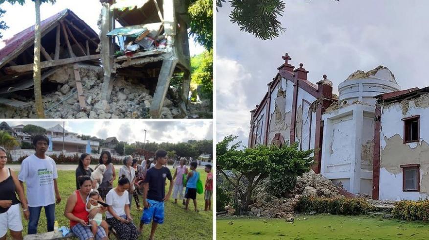 فيديو مروع.. زلزالان يضربان الفلبين