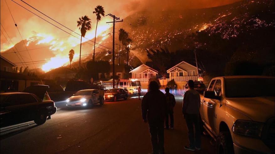 بالفيديو.. شاهد ثالث أكبر حريق في تاريخ أمريكا