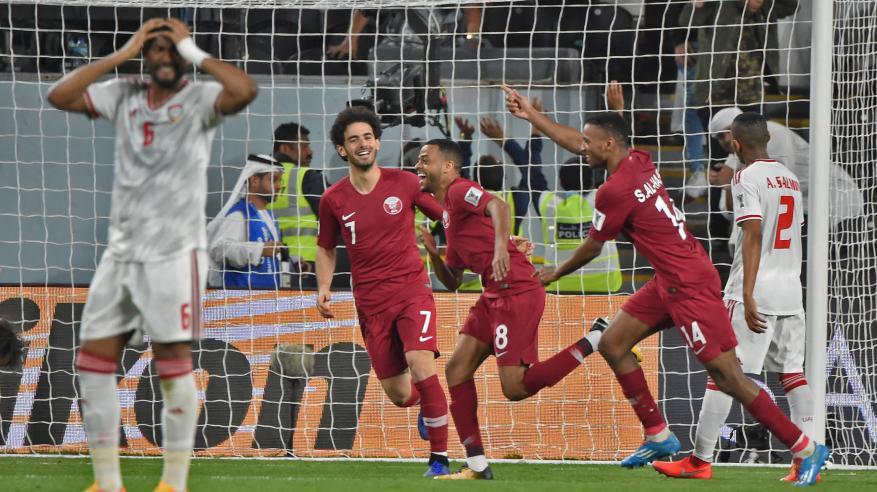 قطر تتأهل لأول مرة لنهائي آسيا بعد رباعية نظيفة أمام الإمارات