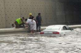 """بالفيديو.. إطلاق صافرات الإنذار بسبب الأمطار الغزيرة في جدة .. و""""الدفاع المدني"""" تنفي"""