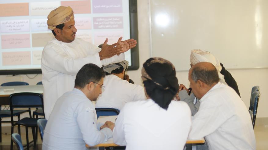 برنامج تدريبي لجائزة السلطان قابوس للتنمية المستدامة بالوسطى