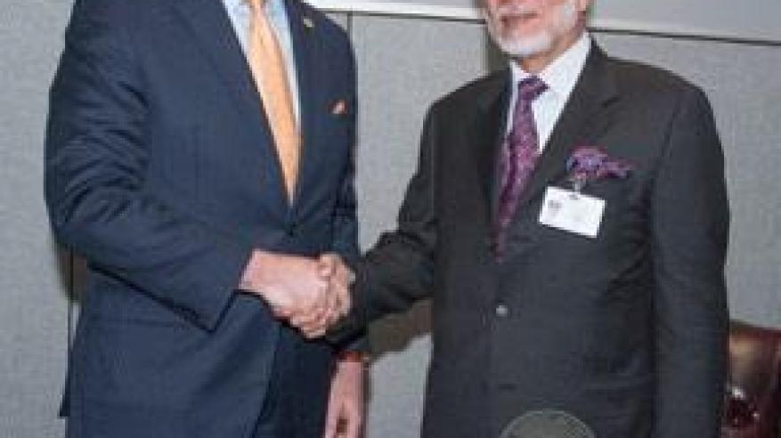 معالي يوسف بن علوي بن عبدالله الوزير المسؤول عن الشؤون الخارجية يستقبل مانويل غونز وزير خارجية كوستاريكا