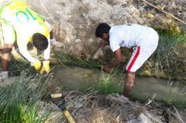 معسكر تطوّعي لتنظيف الأفلاج بجعلان بني بوعلي