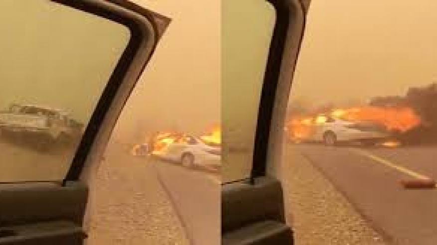 بالفيديو.. حادث مروري مروع بالسعودية