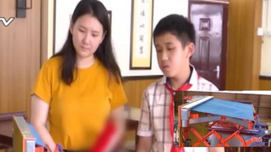 بالفيديو: مراهق صيني يخترع مجفف ملابس مذهل