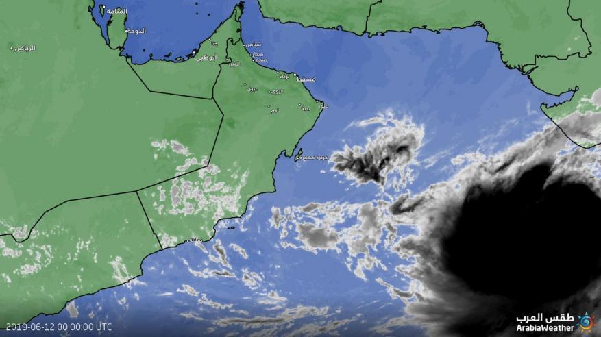 رصد تزايد في سرعة الإعصار المداري في بحر العرب