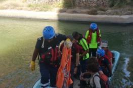 إنقاذ أوروبي سقط في مجرى وادي شاب بطيوي