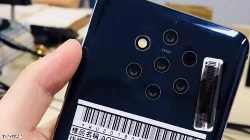 طرح أول هاتف بـ 5 كاميرات