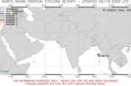 منخفض مداري في خليج البنغال