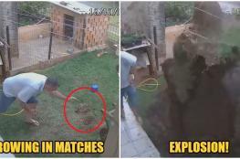 حاول قتل الصراصير.. فأشعل النار في منزله! (فيديو)