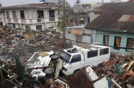 """بالفيديو.. إعصار الفلبين """"المدمر"""" يقتل 25 شخصا"""