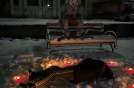 بالفيديو.. مهرج رعب في شوارع أوكرانيا