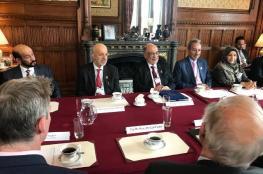 المنذري يبحث مع رئيس مجلس اللوردات البريطاني تطوير التعاون البرلماني
