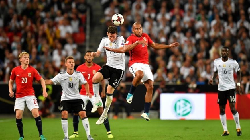 ألمانيا تكتسح النرويج بسداسية .. وإنجلترا على أعتاب مونديال روسيا