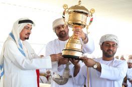 تكريم الفائزين بمهرجان النعيمي السنوي لركض عرضة الهجن والخيل