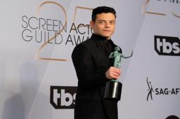 """بالفيديو.. رامي مالك يحصد جائزة أفضل ممثل من """"SAG"""""""