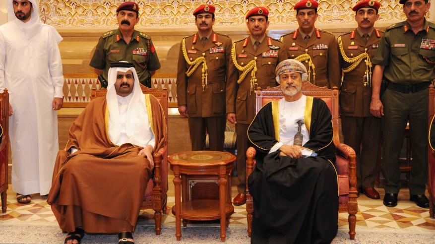 جلالة السلطان يستقبل نائب أمير دولة قطر