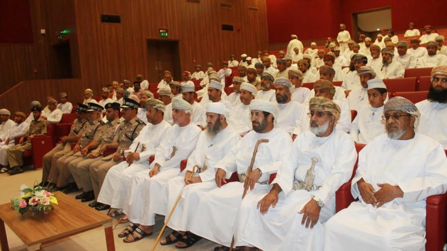 تكريم المتبرعين بالدم والمؤسسات الداعمة لحملات التبرع بمحافظة الداخلية