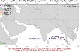 آخر تطورات الحالة المدارية في خليج البنغال
