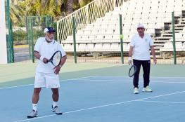 منتخبنا الوطني يبلغ المربع الذهبي في البطولة العربية لرواد التنس