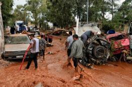 بالفيديو والصور..أمطار غزيرة قرب أثينا تودي بحياة 7 على الأقل
