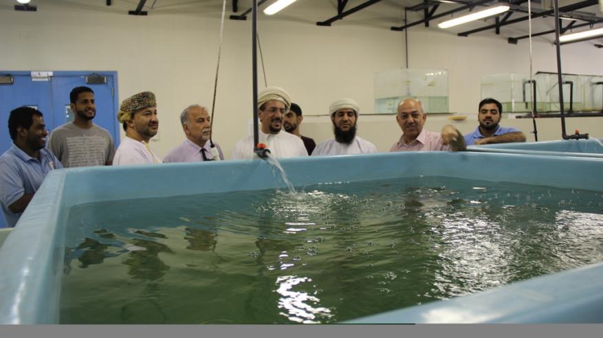 زيارة ميدانية للإطلاع على المشاريع البحثية للاستزراع السمكي