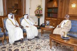 وزير الديوان يودع السفير القطري بمناسبة انتهاء مهام عمله